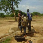 Working on the broken well pump