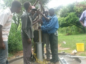 The Water Project : pump-attachment