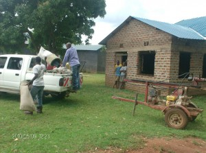 The Water Project : bwp-drillers-offloading-equipments-from-the-truck_web