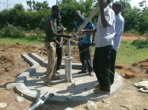 The Water Project : ack-enanga-pump-installation