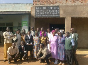 The Water Project : members-of-the-ark-standing-infront-of-their-office