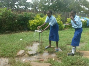 The Water Project : st-marys-girls-high-school-current-water-sourcepiped-water-from-a-seasonal-spring