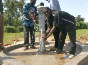 The Water Project : water-flowing-at-ack-enanga