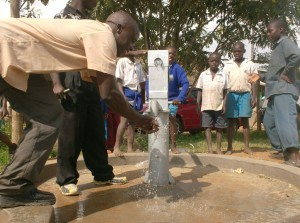 The Water Project : water-flowing-at-ark-of-orphans