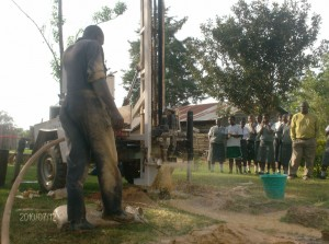 The Water Project : mukumu-girls-high-school-drilling-process-at-a-depth-of-24m