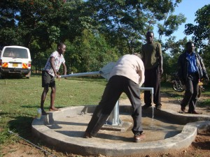 The Water Project : water-flowing-at-emulundu-community