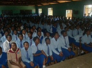 The Water Project : stmarys-students-viewing-the-video-show