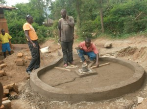 The Water Project : bulovi-primary-lining-of-well-pad