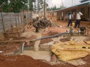 The Water Project : compassion-care-childrens-home-flashing-of-the-well-at-a-depth-of-40m