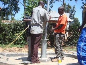 The Water Project : hirumbi-primary-school-installation-of-rising-pipes