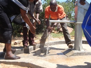 The Water Project : hirumbi-primary-school-water-flowing