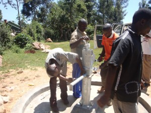 The Water Project : hiumbi-primary-school-attachment-of-pump-water-tank