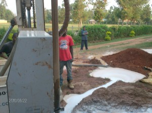 The Water Project : matende-secschool-sunction-pit-during-drilling-process