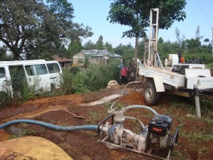The Water Project : kwa-maji-community-based-organisation-mud-drilling