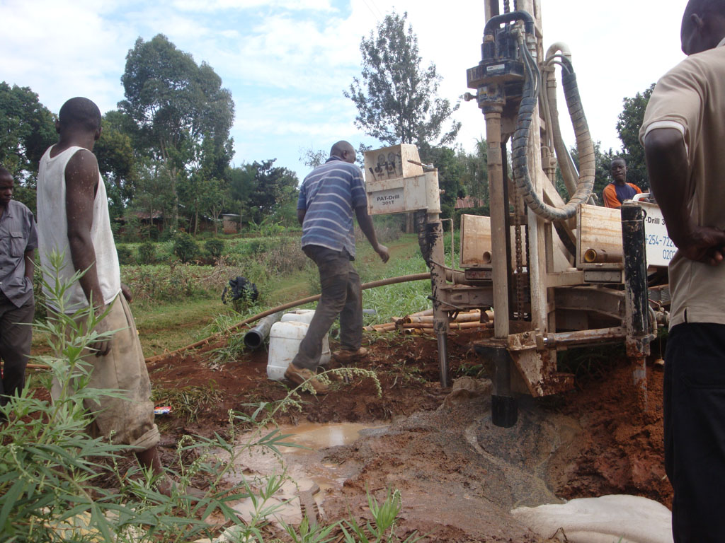 The Water Project : kwa-maji-community-organisation-drilling-process