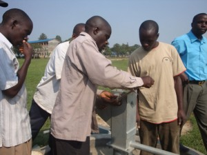 The Water Project : stmarys-sec-school-attachment-of-pump-water-tank