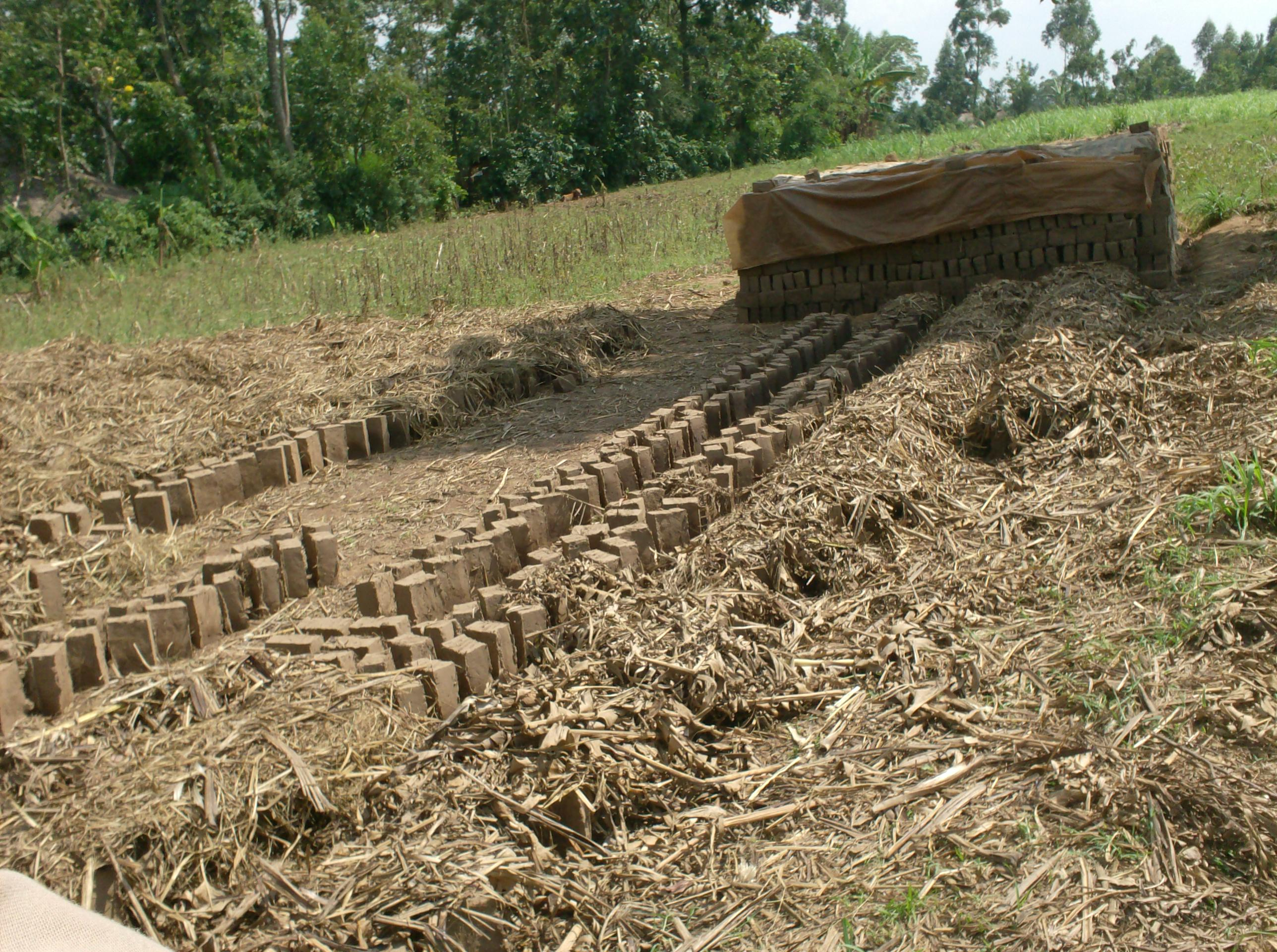 The Water Project : brick-making-as-a-result-of-the-water-project