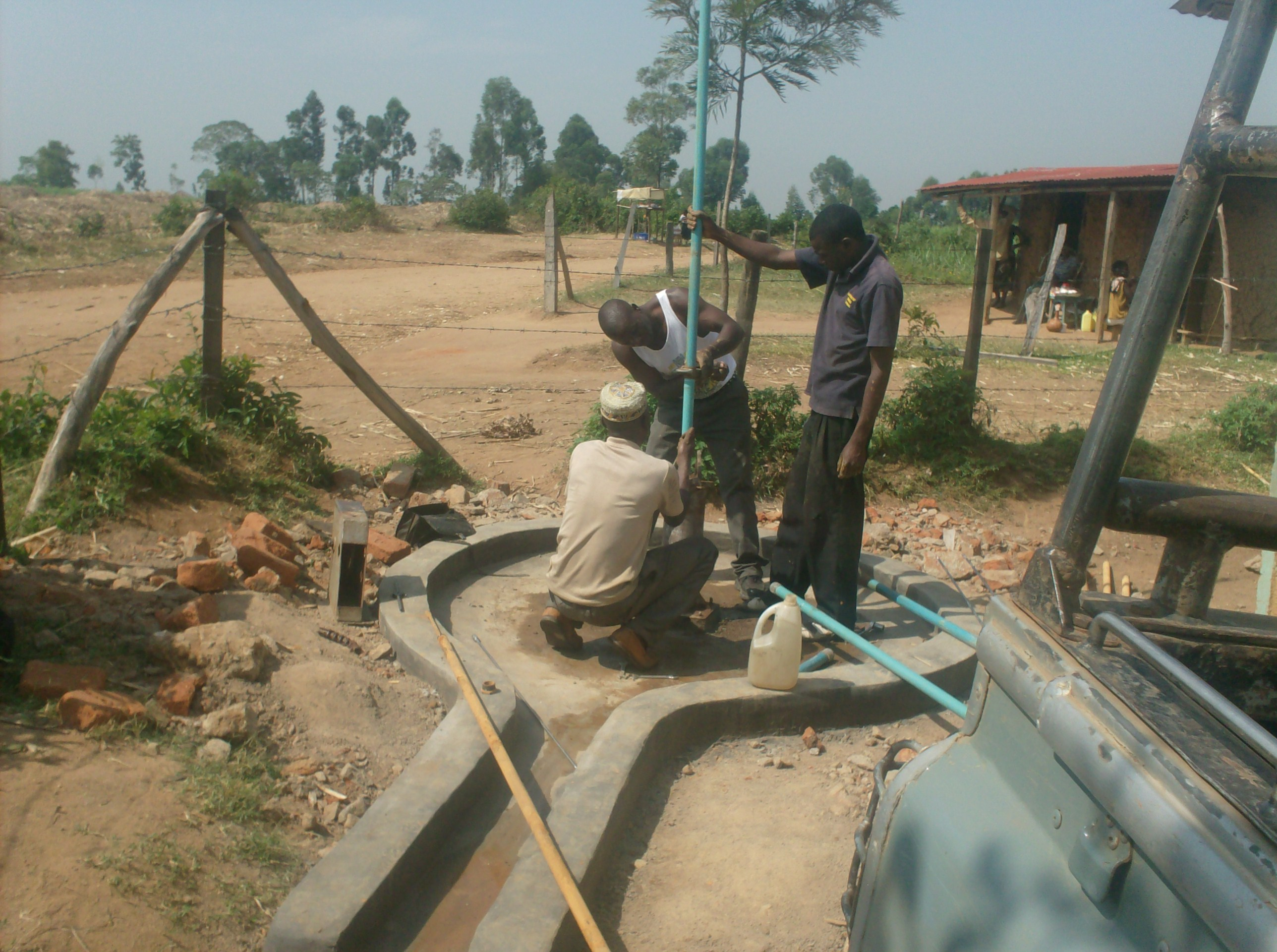 The Water Project : eshiyenga-primary-school-fixing-of-pvc-pipes