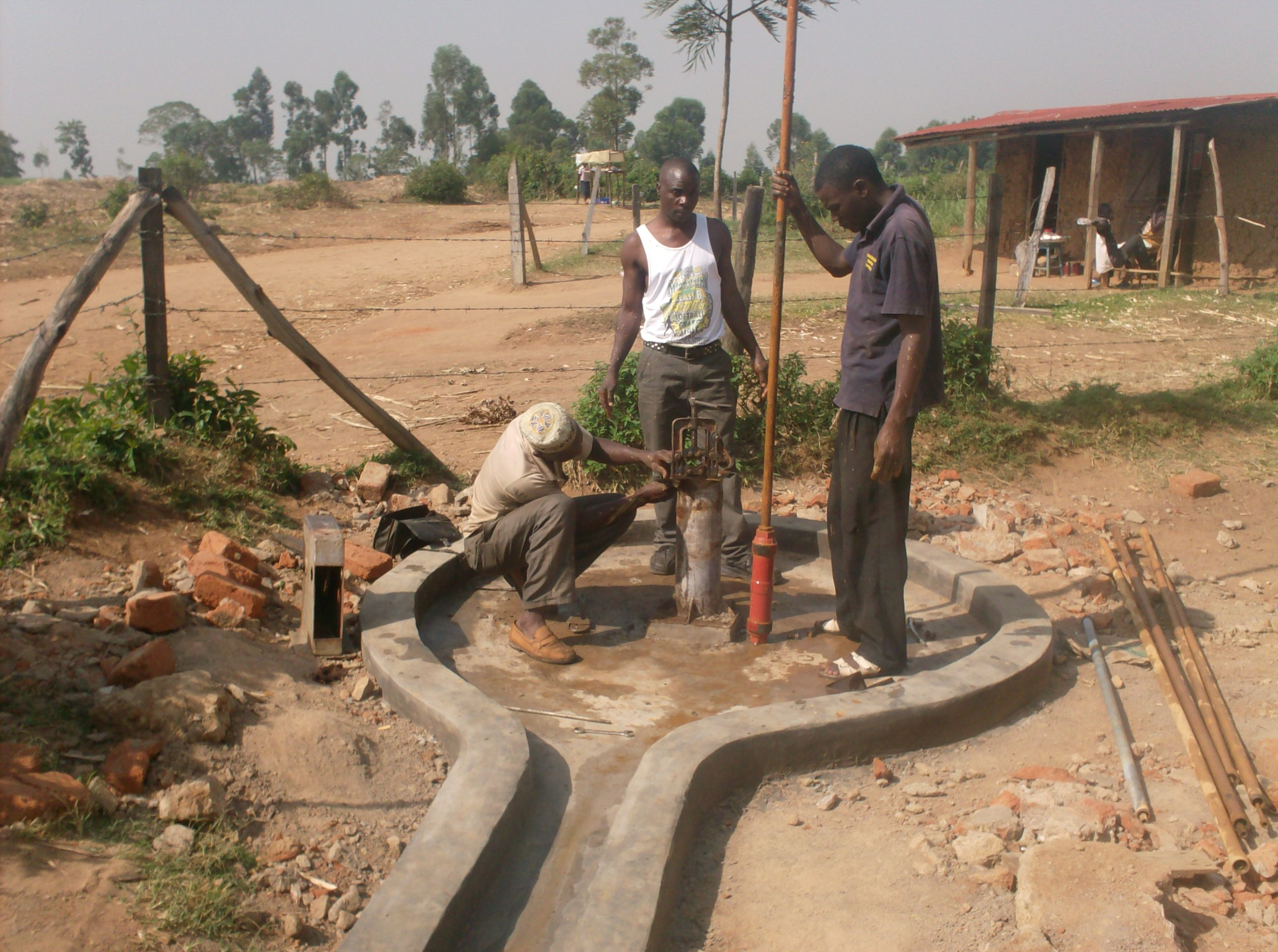 The Water Project : eshiyenga-primary-school-replacement-of-rising-pipes-during-rehab