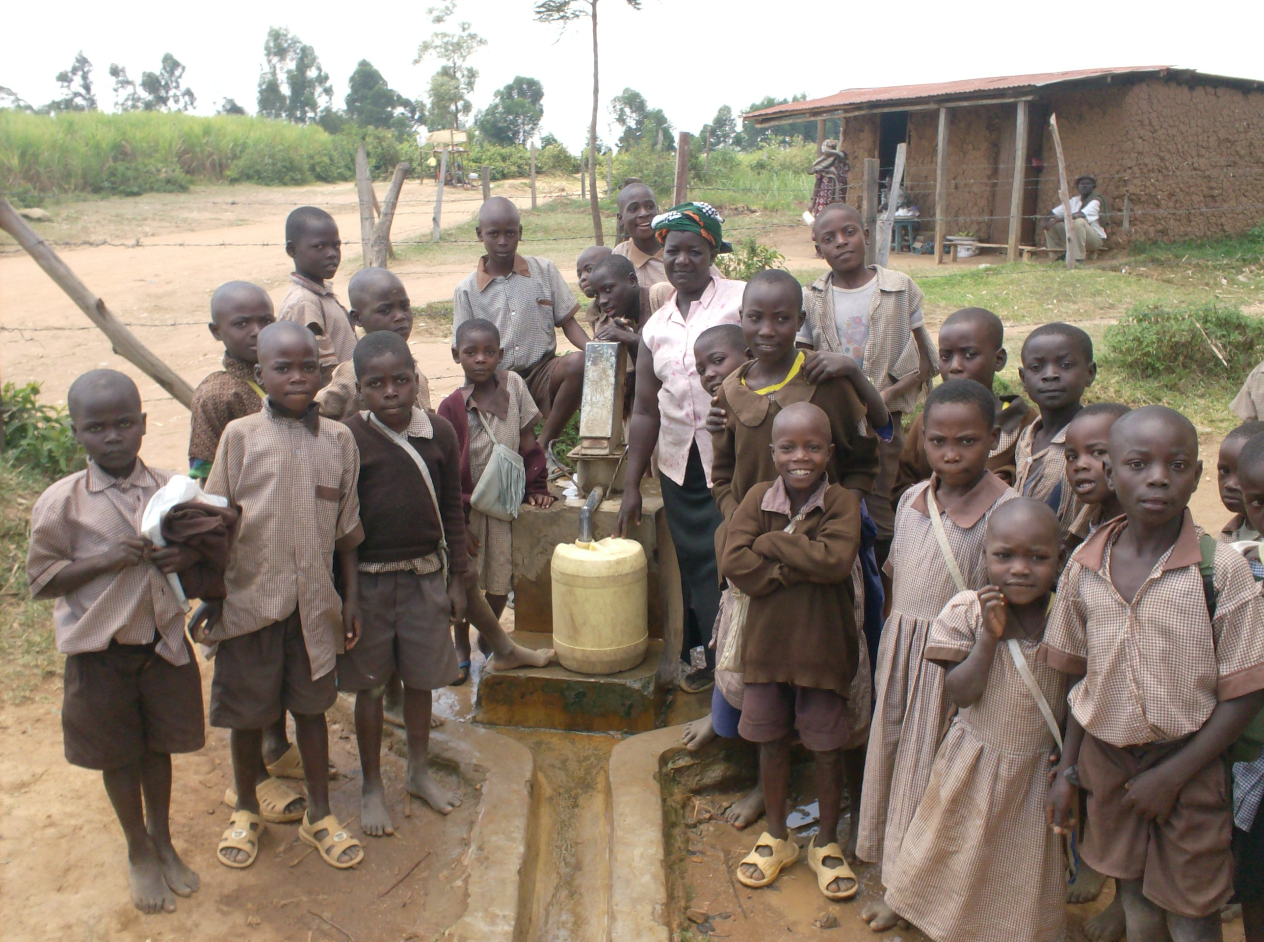 The Water Project : eshiyenga-pupils-at-there-water-source