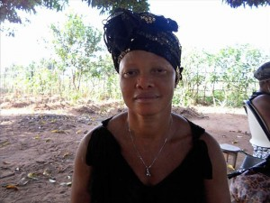 Marsary S. - Local Trader, discussing her newly donated water project in Sierra Leone