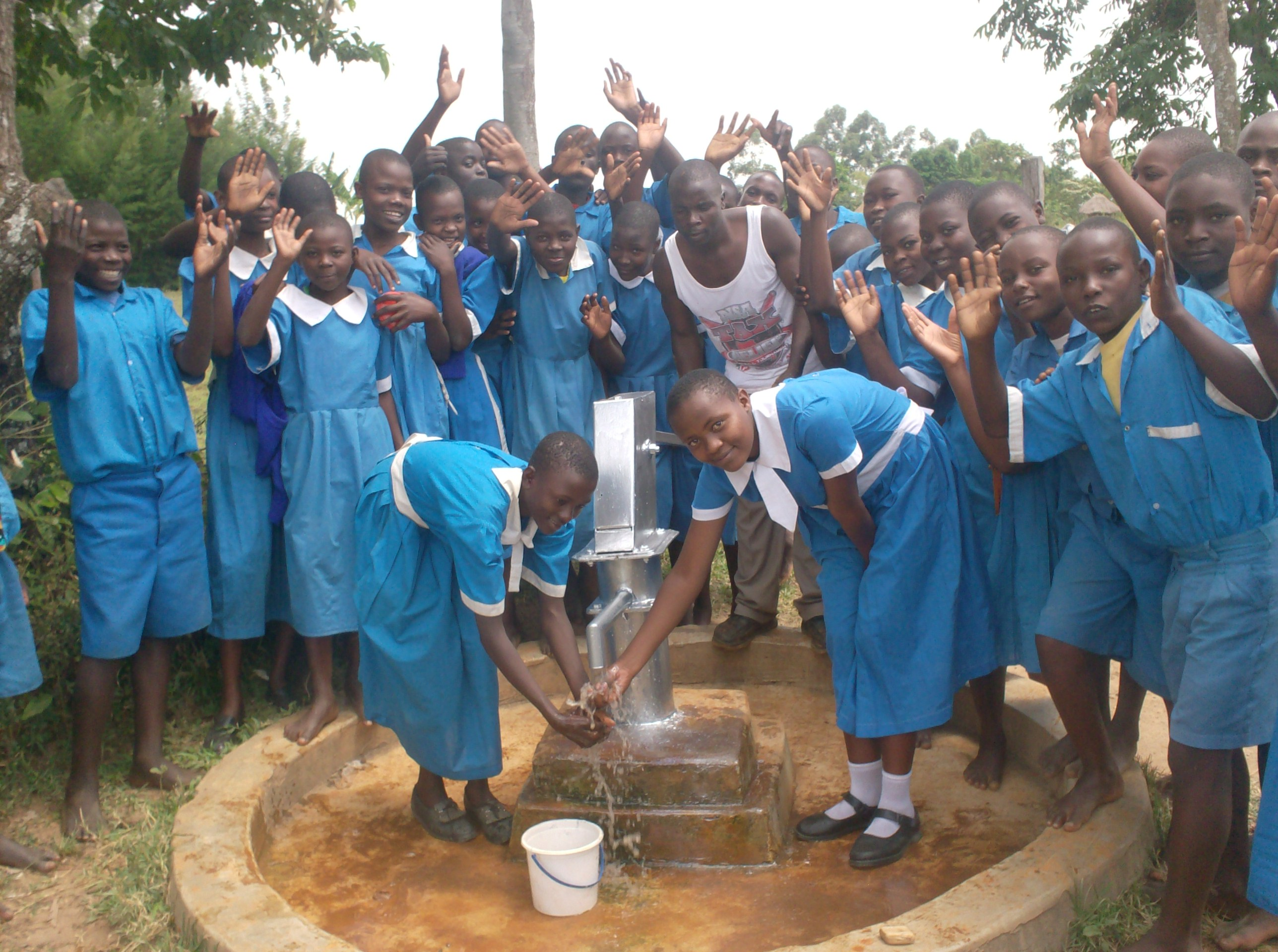 The Water Project : vashele-primary-school-hand-over-ceremony-after-well-rehab