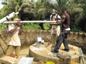 The Water Project : installing-new-pump