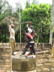 The Water Project : removing-old-pump