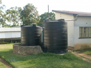 The Water Project : st-angela-tanks-for-rain-harvesting
