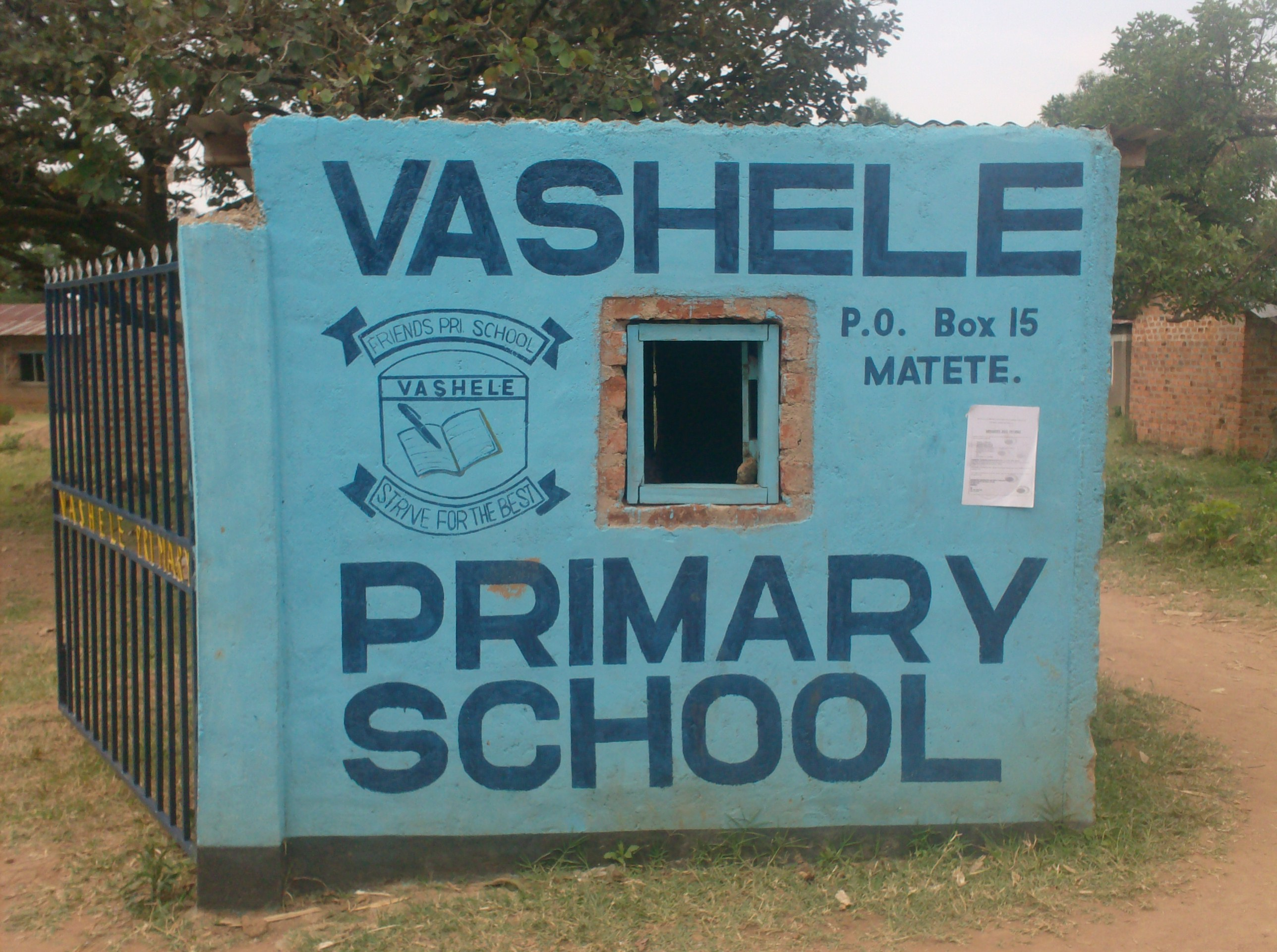 The Water Project : vashele-school-gate