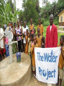 Lamin K. - Community Member, discussing her newly donated water project in Sierra Leone