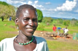 Annet - Community Member, discussing her newly donated water project in South Sudan