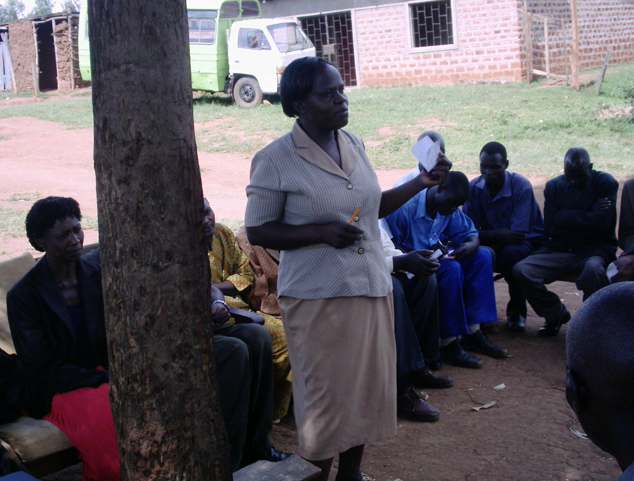 The Water Project : icfem-health-trainer-judith-leading-a-wash-session-in-sabata