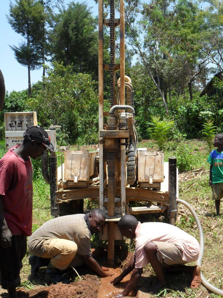 The Water Project : drilling-begins-at-eshiamboko-primary-school-2-2