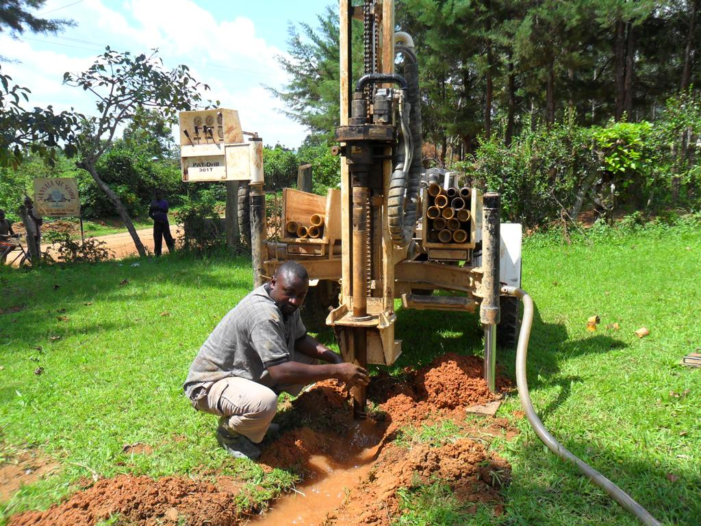The Water Project : drilling-begins-at-manyala-hospital