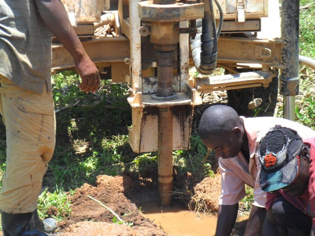 The Water Project : drilling-on-progress-at-eshiamboko-primary-school-2-2