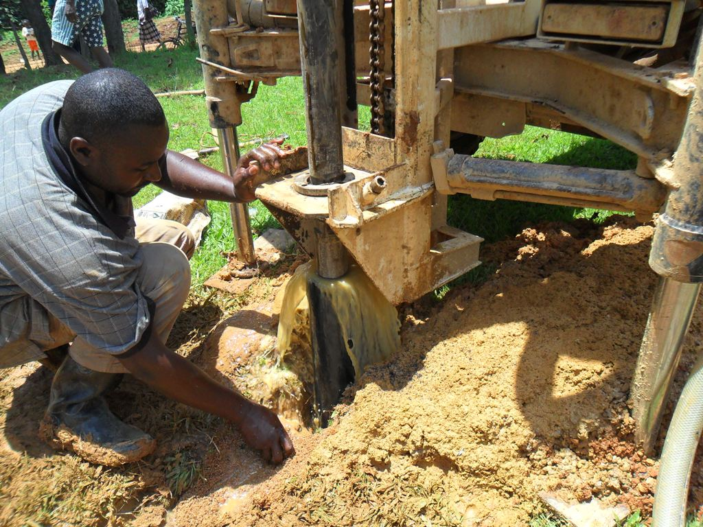 The Water Project : drilling-on-progress-at-manyala-hospital
