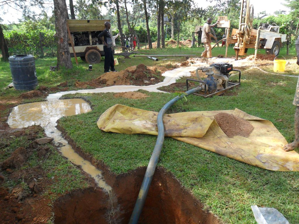 The Water Project : drilling-on-progress-manyala-hospital