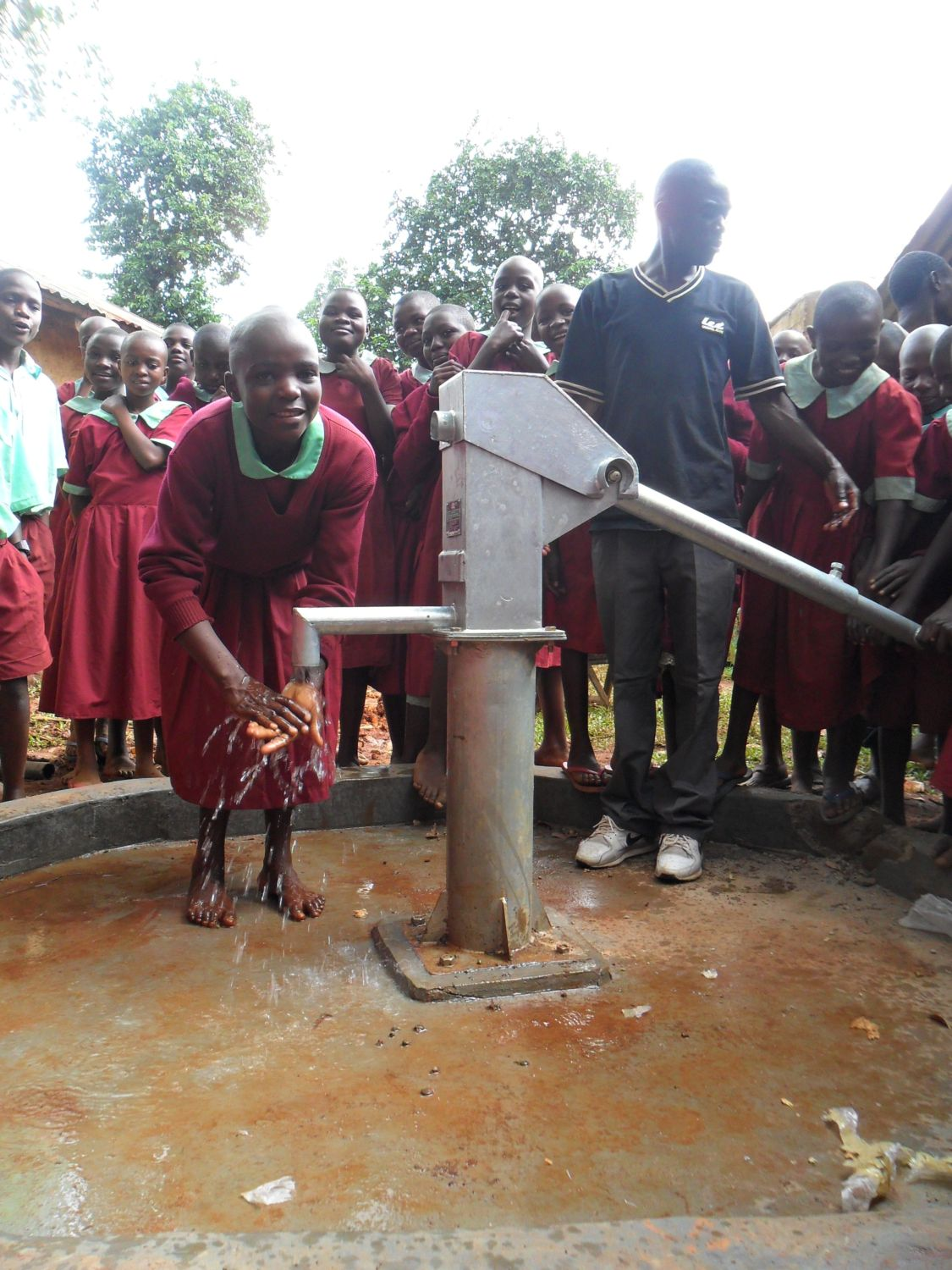 The Water Project : handing-over-of-the-hirumbi-primary-well-2