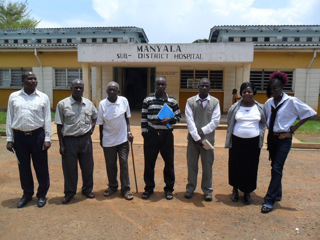 The Water Project : new-formed-water-committee-of-manyala-hospital