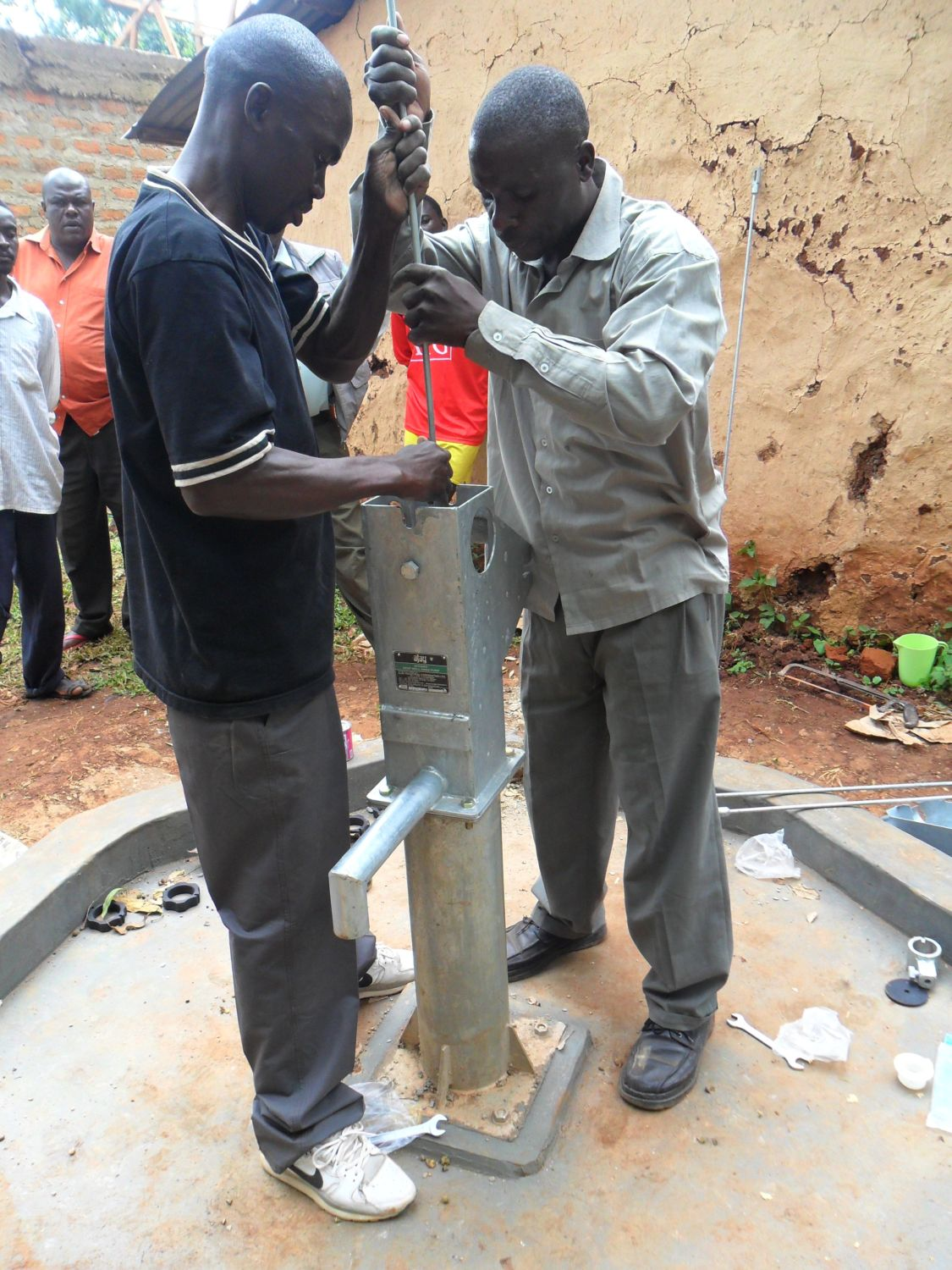 The Water Project : pump-installation-at-hirumbi-primary-school-2