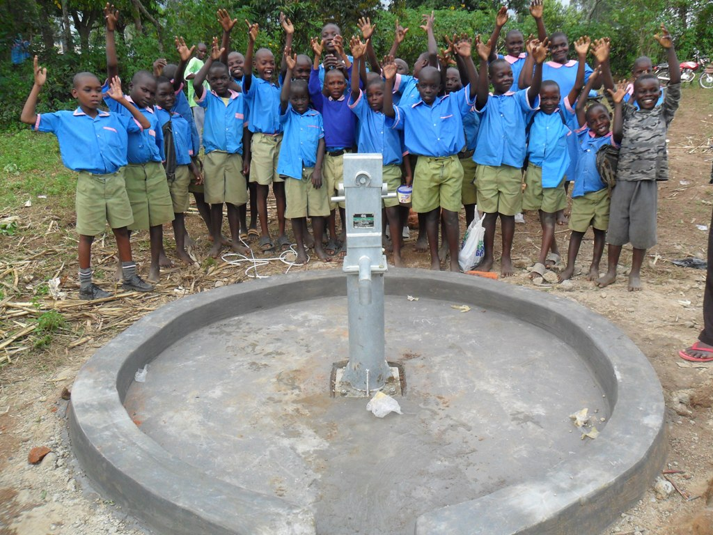 The Water Project : eshiamboko-pupils-posing-at-their-water-project