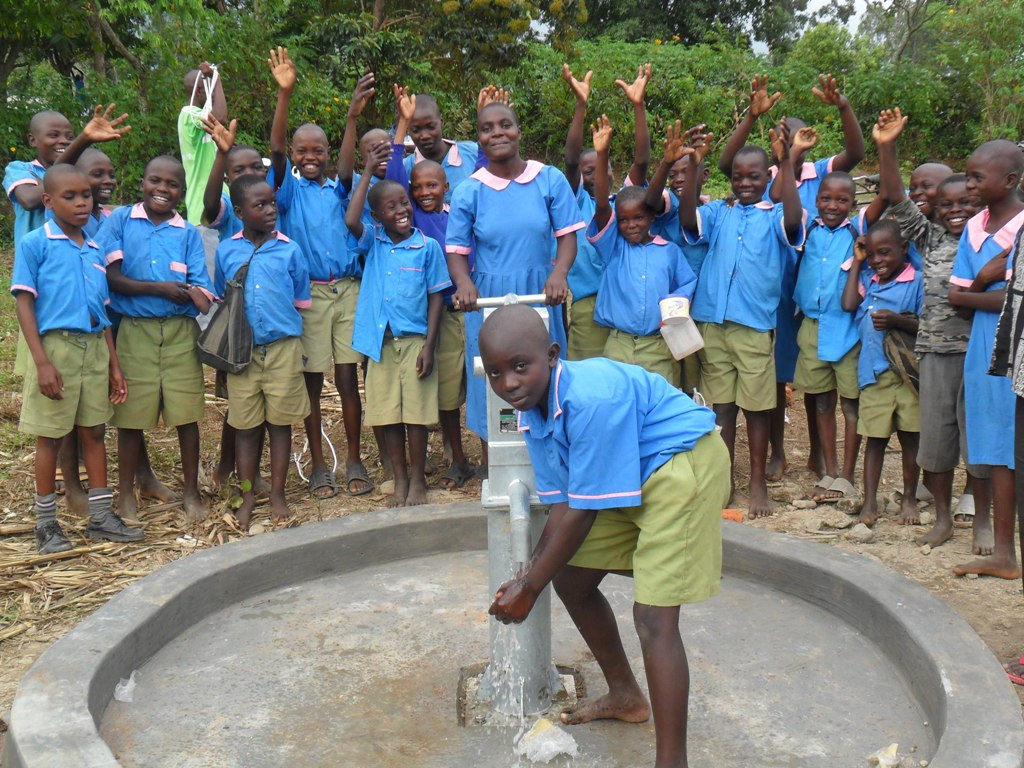 The Water Project : happy-pupils-of-eshiamboko-primary-school