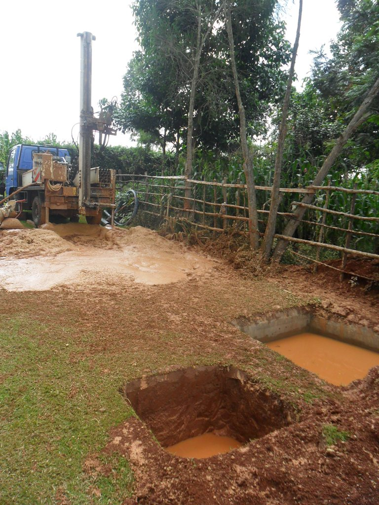 The Water Project : drilling-at-wambenge-community-on-progress-2
