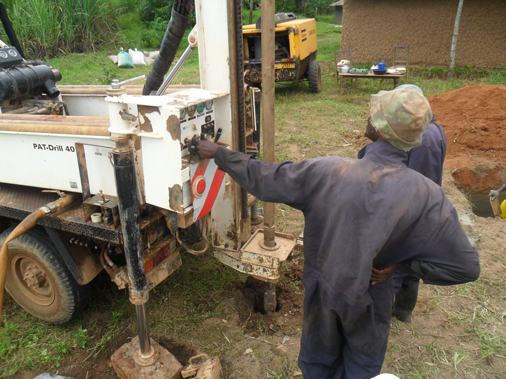The Water Project : drilling-begins-at-mayungu-community-3