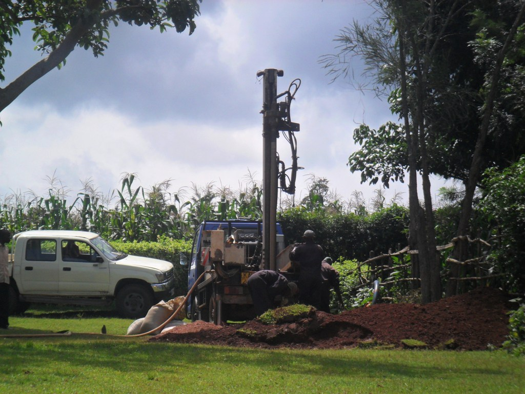 The Water Project : drilling-begins-at-wambenge-community-2