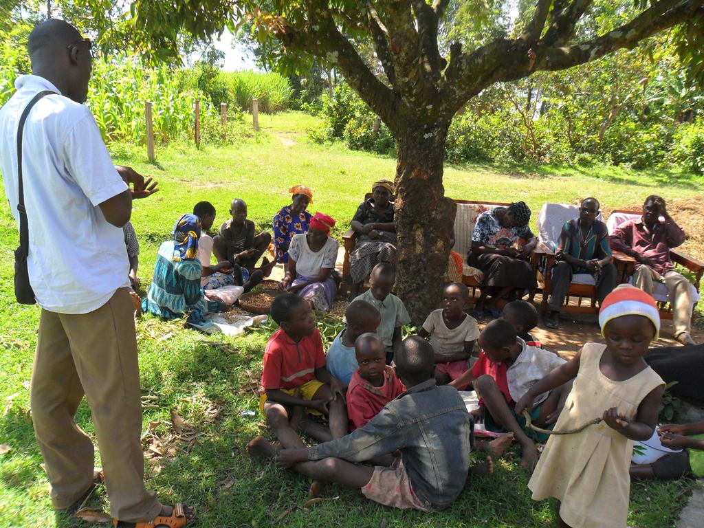 The Water Project : mayungu-community-education-on-progress
