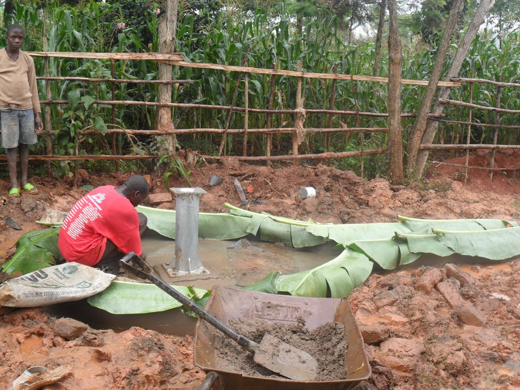 The Water Project : wambenge-pad-construction