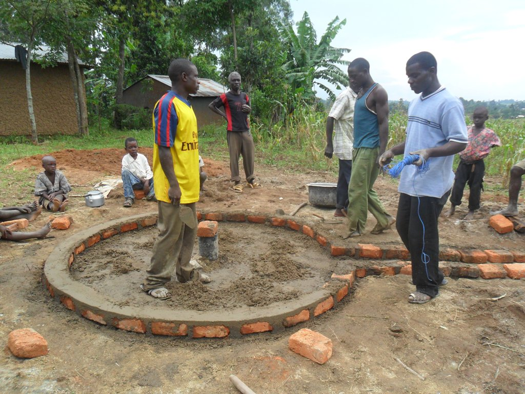 The Water Project : pad-construction-mayungu-community