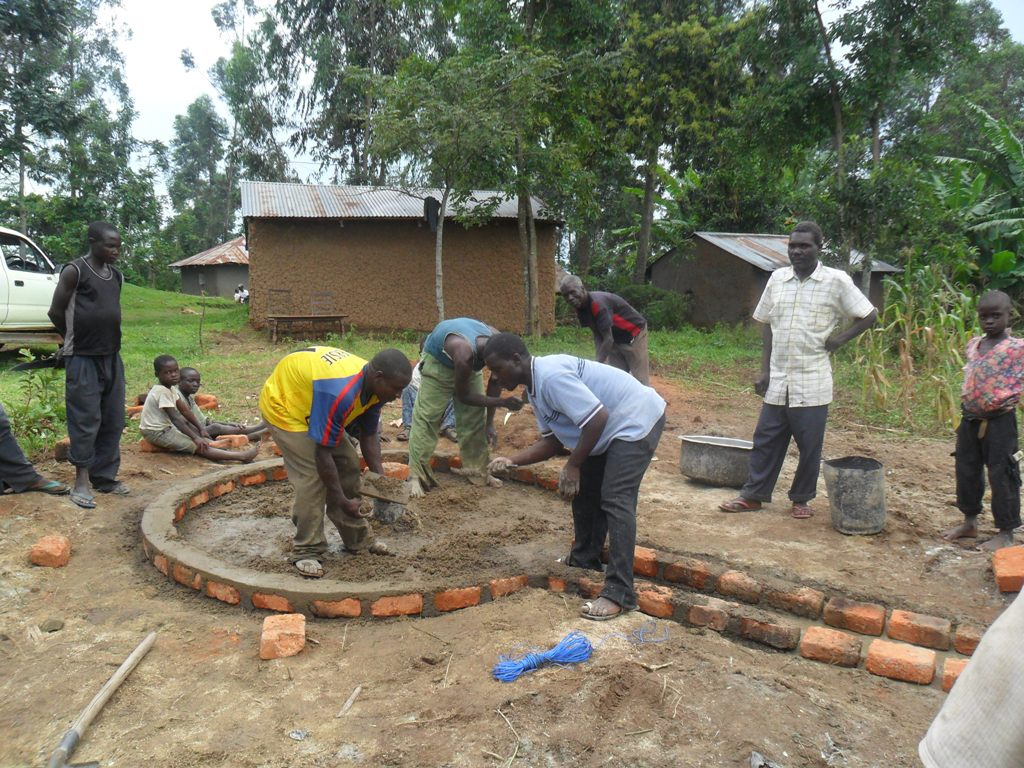 The Water Project : pad-construction-mayungu